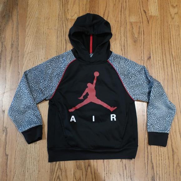 61b074a16e7a Jordan Other - Air Jordan Boys Cement Print Hoodie sz M (10-12)